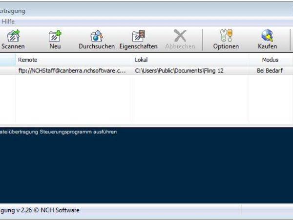 Fling FTP-Upload-Programm 2.37