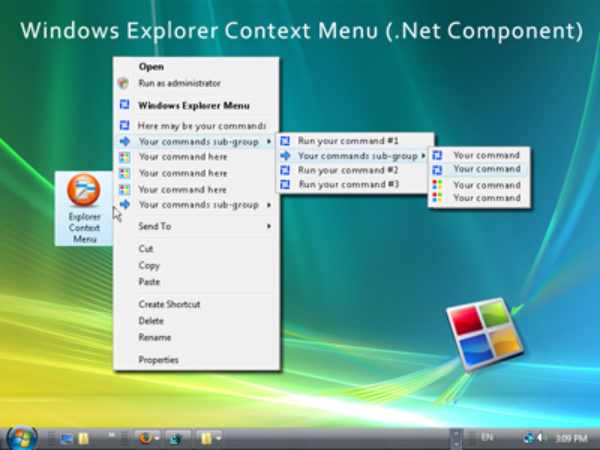 Windows Explorer Shell Context Menu (For .NET) 7.14