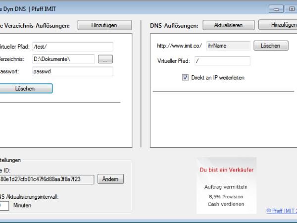 Dynamic DNS HTTP Server