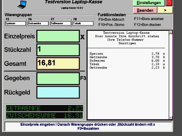 Laptop-Kasse