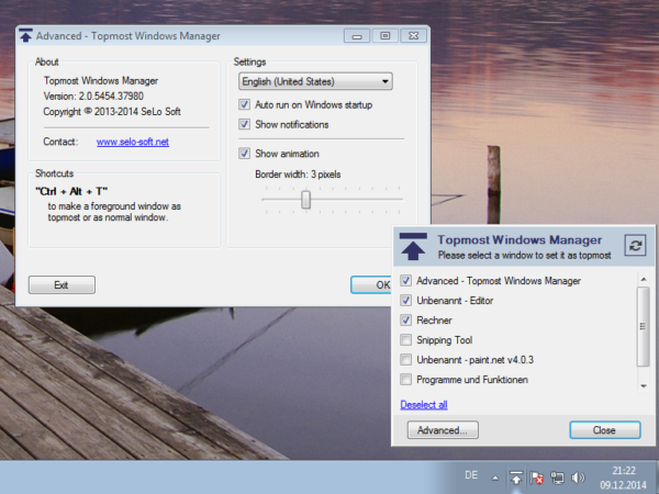 Topmost Windows Manager 2.0
