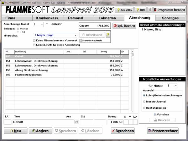 FLAMMESOFT LohnProfi 2015