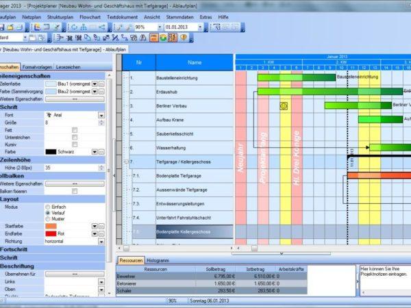 Bauzeitenplan Projekt-Manger