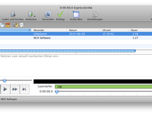 Express Scribe Transkriptionssoftware Mac 5.83