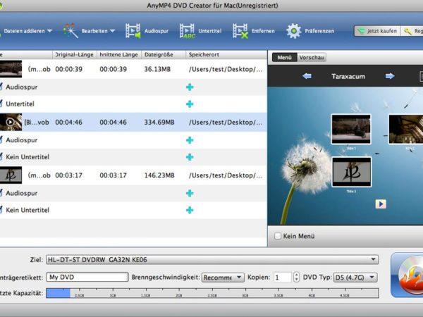 AnyMP4 DVD Creator für Mac
