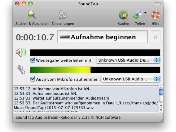 SoundTap Streaming Audio-Recorder Mac