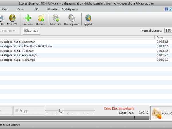 Express Burn Disc-Brennprogramm Mac 4.94