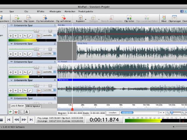 MixPad Audiodatei-Mixer 3.97