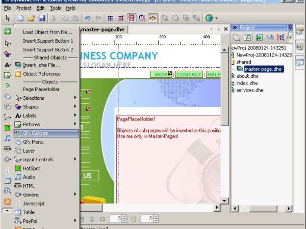 Dynamic HTML Editor 5.0