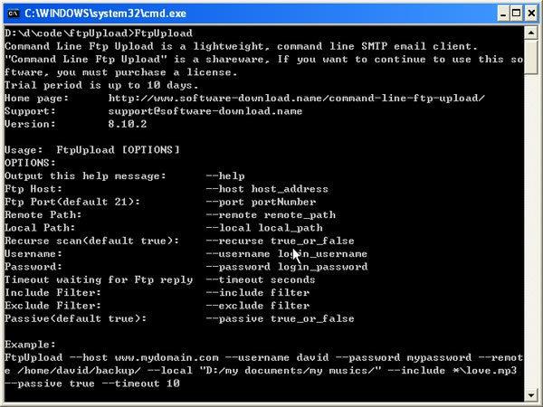 Command Line Ftp Upload