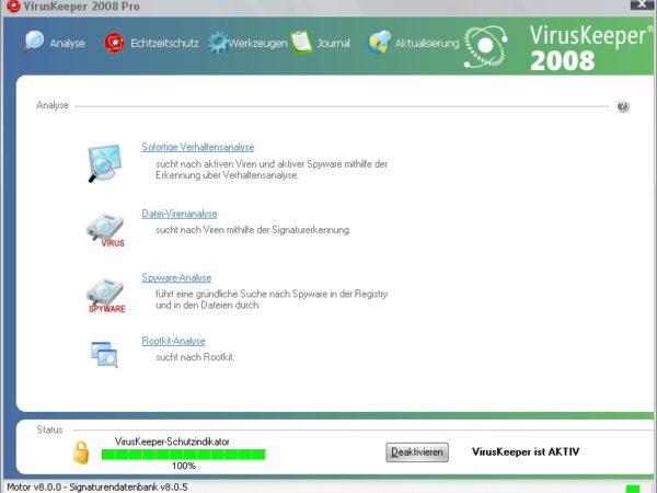 VirusKeeper 2008 Pro v8.9