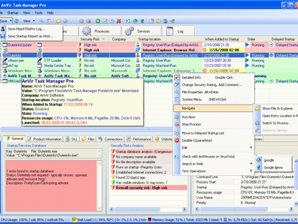 AnVir Task Manager Free de 5.6