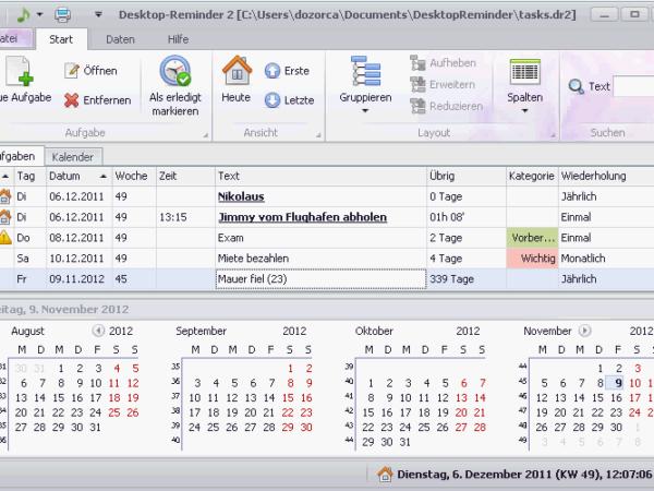 Desktop-Reminder 2.50