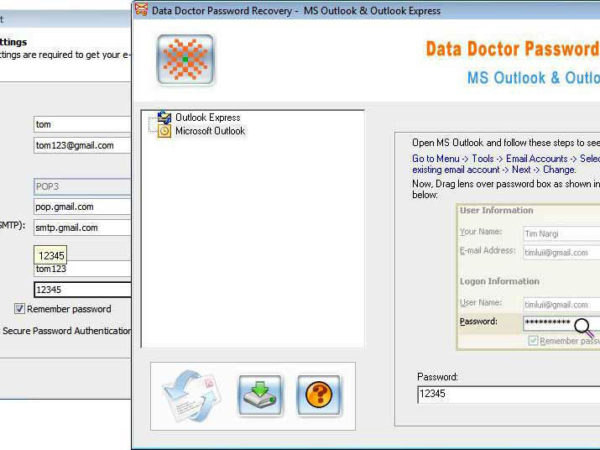Recover Outlook Express Password 3.0.1.5