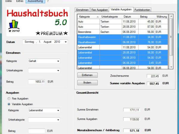 Haushaltsbuch NetBook