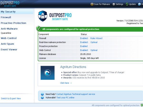 Agnitum Outpost Security Suite Pro 7.0.1