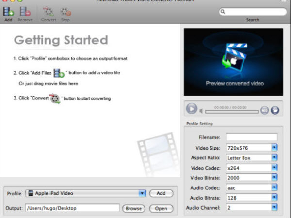 Tune4Mac iTunes Video Converter Platinum 1.0.4