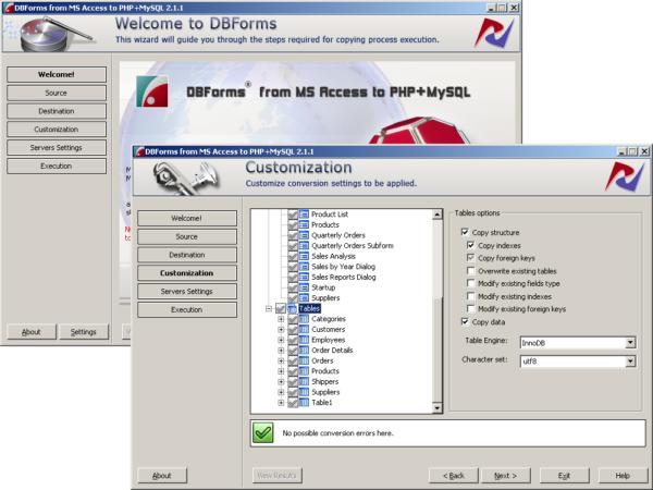 AccessForms2Web (PHP and MySQL Editon)