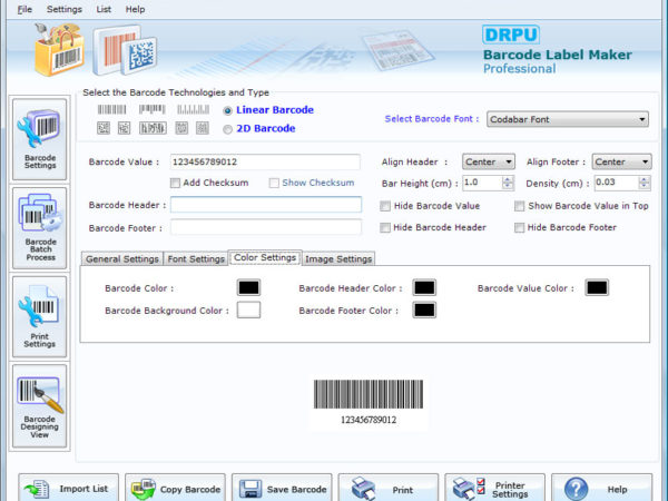 Free Barcode Software 7.2.1.1
