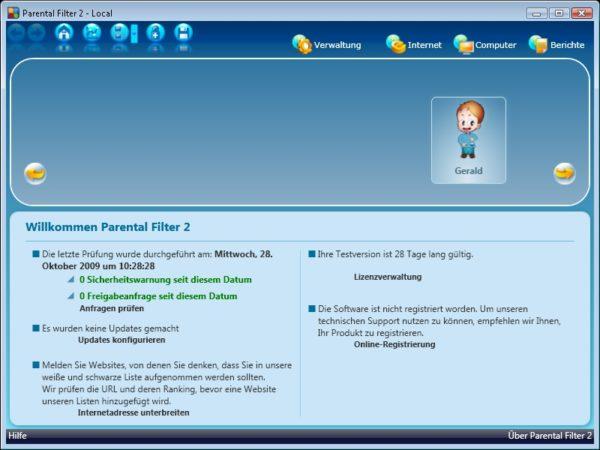 Profil Parental Filter 2