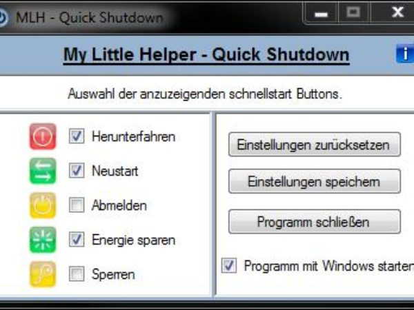MLH - Quick Shutdown 1.0