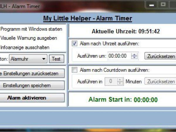MLH - Alarm Timer 1.0