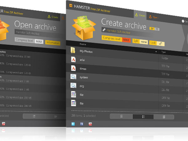 Hamster Free Zip Archiver 1.1.0.13a