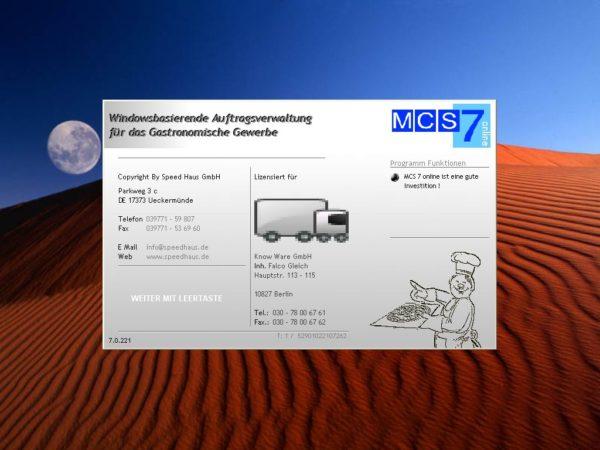 MCS7 online - Gastro Software