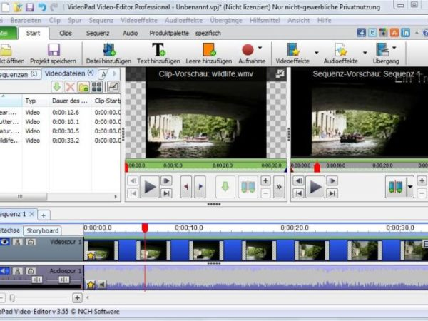 VideoPad  Videoeditor 4.02