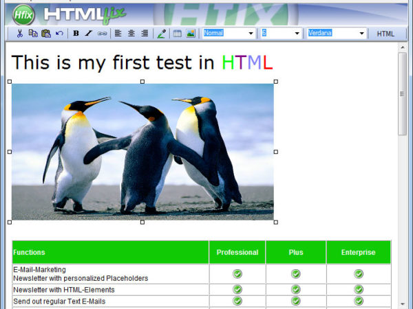 HTML fix