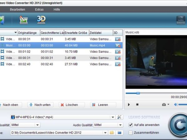 Leawo Video Converter HD 2012 V4.0.0.2