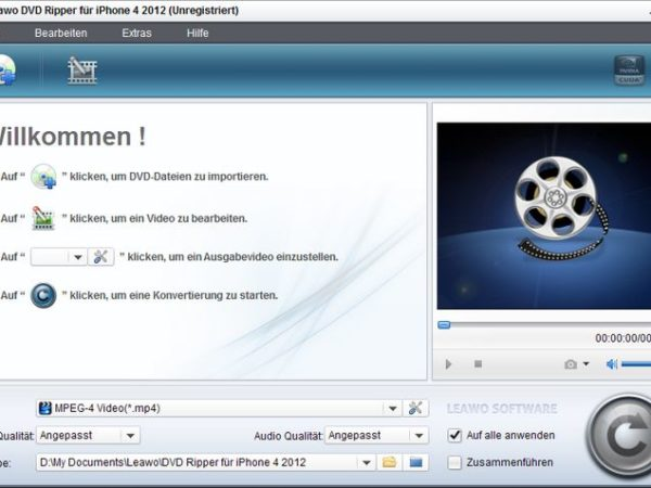 Leawo DVD Ripper für iPhone Pro 2012 V4.0.0.2