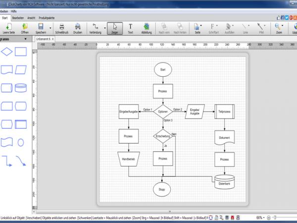 ClickCharts Flussdiagrammsoftware