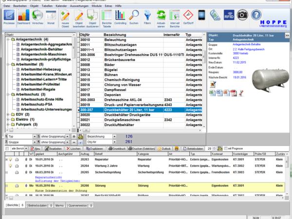 Wartungsplaner Instandhaltungssoftware