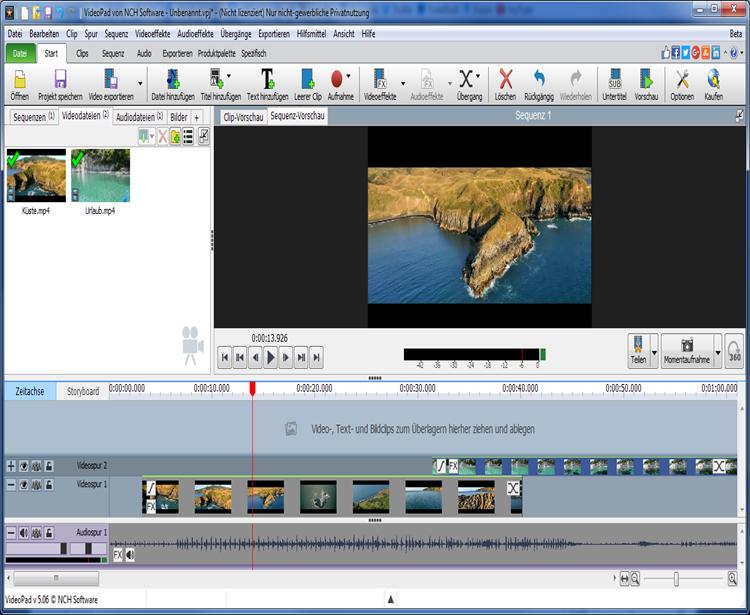 videopad video editor deutsch