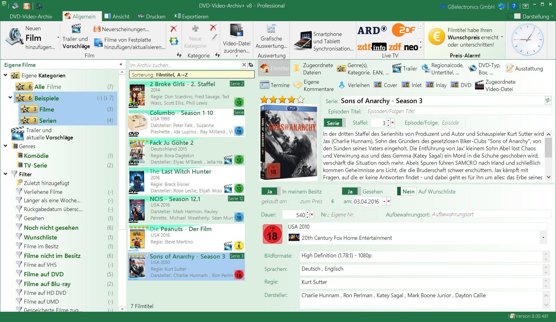 DVD-Video-Archiv+ v8