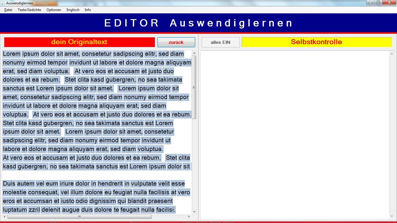 Download EDITOR Auswendiglernen kostenlos bei NowLoad