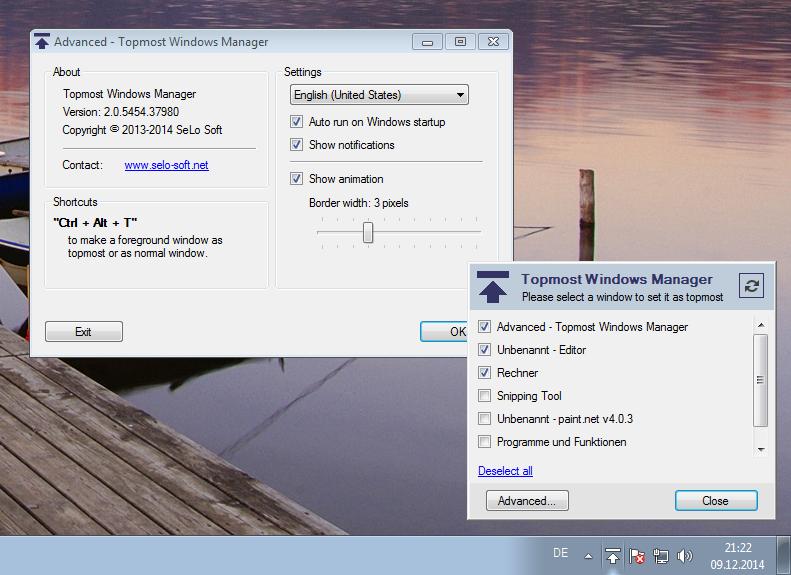 Download topmost windows manager 2 0 kostenlos bei nowload for Fenster immer im vordergrund