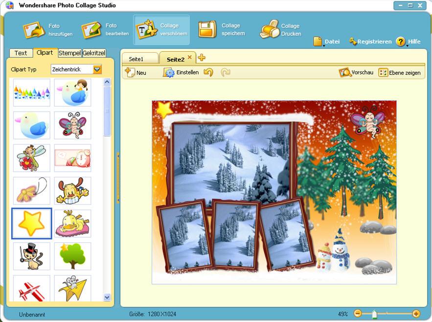 Download Wondershare Photo Collage Studio 4.2.9.2 kostenlos bei NowLoad