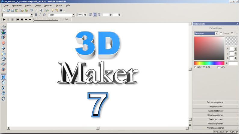 download magix 3d maker kostenlos bei nowload. Black Bedroom Furniture Sets. Home Design Ideas