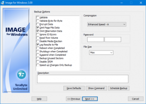TeraByte Drive Image Backup and Restore