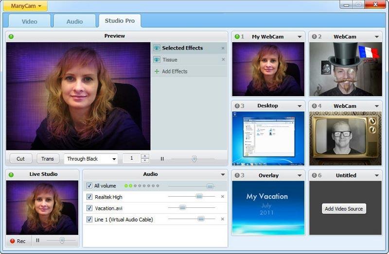 Download ManyCam Free Webcam Effects kostenlos bei NowLoad