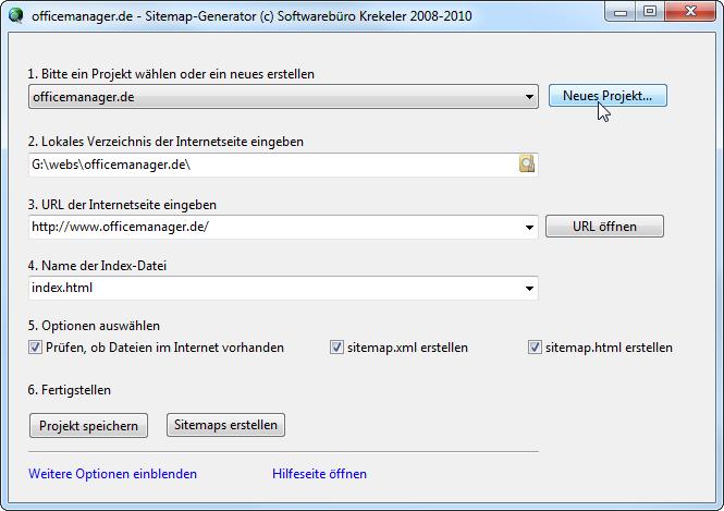 google sitemap generator deutsch